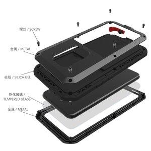 Image 4 - LOVEMEI חזק מתכת עמיד למים מקרה עבור Huawei Mate 20 לייט Mate20 lt אלומיניום הלם עפר הוכחת כיסוי עם זכוכית גורילה סרט
