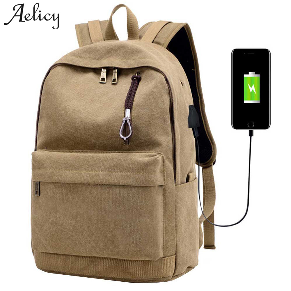 Aelicy Men Male Canvas Backpack College Student School Backpack Bag for Teenagers Vintage Mochila Casual Rucksack Travel Daypack men backpack women bolsa mochila notebook computer rucksack school bag backpack for teenagers casual travel waterproof backpack
