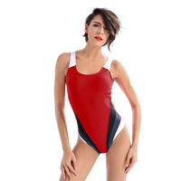 Sexy One Piece Bathing Suit Athletic Swimwear Competition Swimsuit Straight Angle Shorts Professional Swim Suit