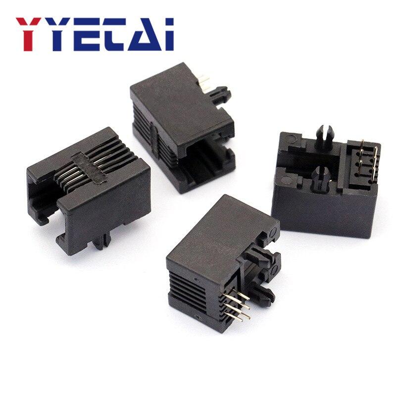 YongYeTai RJ11 Socket 95001 Black 6P6C RJ12 Telephone Socket Free Shipping