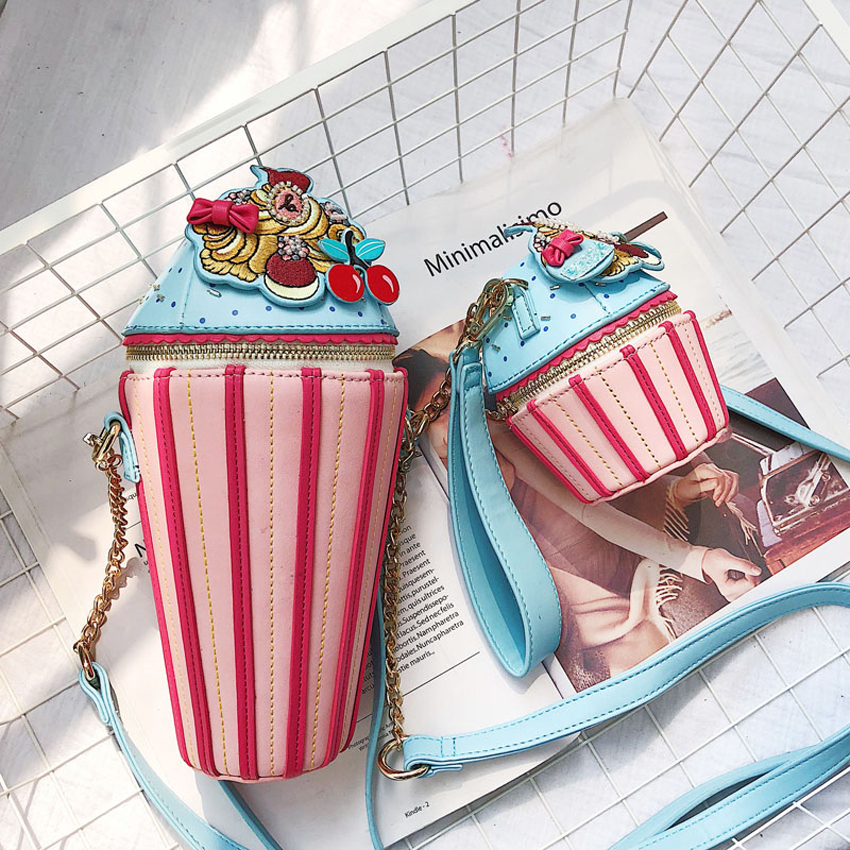 77dbf6bc4ef71 Detail Feedback Questions about 2019 New Small Cupcake Cake Shape Women s  Shoulder Bags Female Cartoon Cute PU Leather Messenger Bag Clutch Purses  and ...