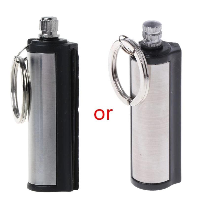 Permanent Match Key Chain Striker Lighter Key Ring A Stainless Steel Key