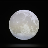 YIYANG 3D 12cm Full Moon LED Night Light USB Rechargeable Touch Switch 2 Colors Bedroom Atmosphere