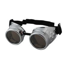 Welding Cyber Punk Vintage Sunglasses Retro Gothic Steampunk Goggles Glasses Men Sun Glasses Plastic Adult Cosplay Eyewear