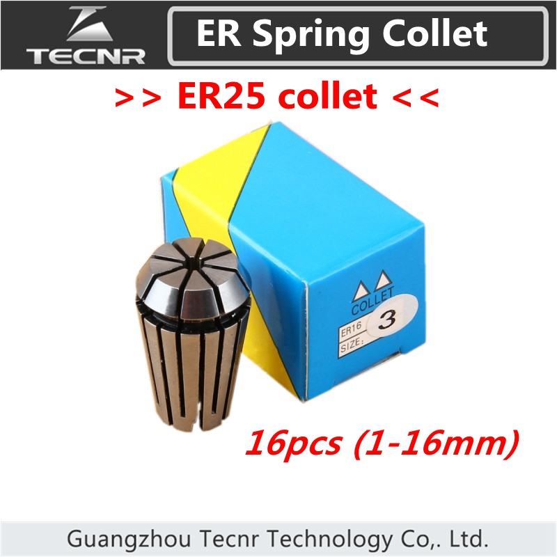 ER25 collet chuck set from 1mm to 16mm for CNC milling lathe tool and spindle motor cnbtr er16a 6mm motor shaft collet chuck holder tool cnc lathe milling part