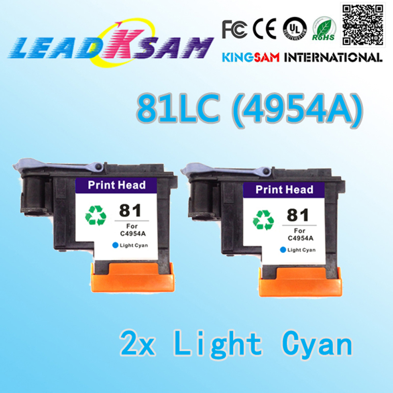 2x Light cyan compatilble for hp81 print head compatible for Designjet 5000 5000ps 5500 5500ps printer