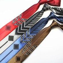 RBOCOTT узорчатые и Цветные Лоскутные тонкие галстуки модные новые Узкие галстуки для мужчин вечерние галстуки на шею 6 см