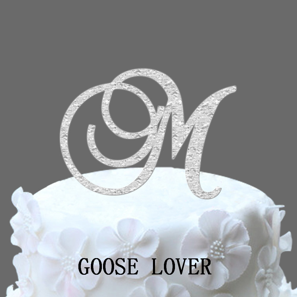 cheap monogram wedding cake toppers monogram letter wedding cake stand topper initial 12516