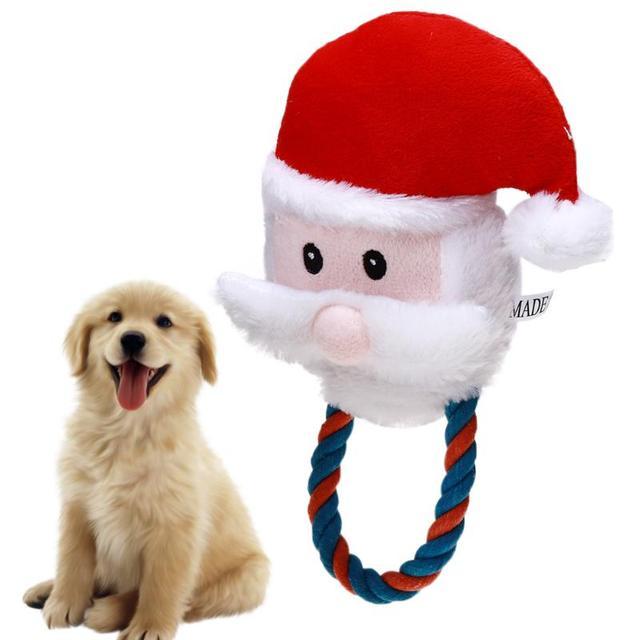 Babbo natale Forma Pet Tessuto Del Giocattolo Giocattoli Del Cane Pet Puppy Coto