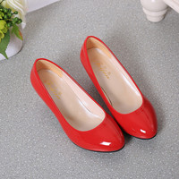 2018 Sexy Low Heels Shoes For Women Nude Shallow Mouth Women Office Work Heels Shoes Elegant