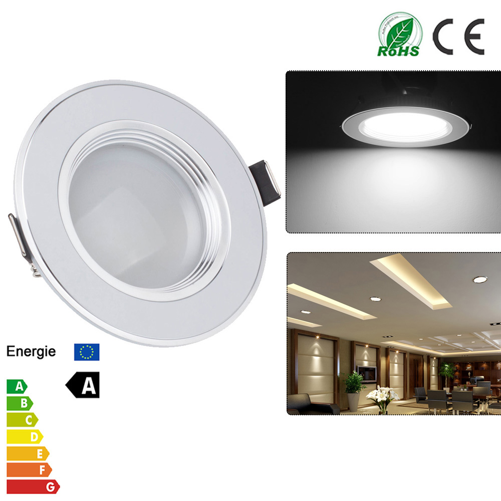 Spot Led Us 6 69 30 Off Ultra Slim 3w 5w 7w 9w 12w Spot Led White Downlight Flat Lens Recessed Light Non Dimmable Led Lights For Home Ac 110v 220v In