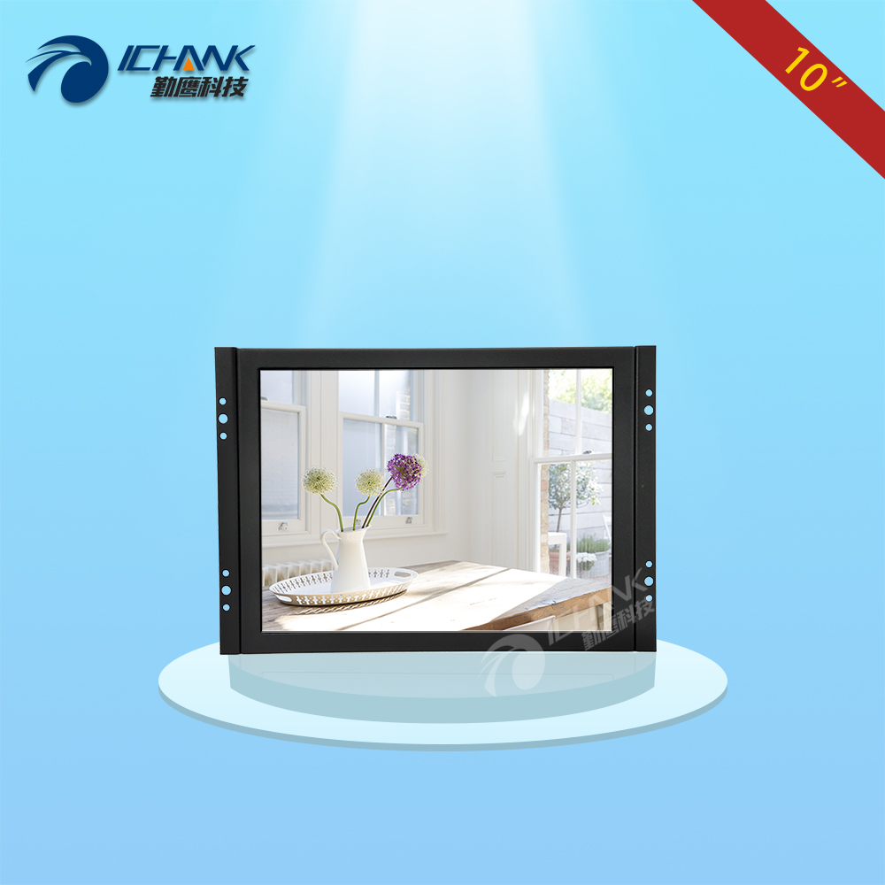 ZK100TN-V59/10 inch 800x600 4:3 BNC HDMI VGA Metal Shell Embedded&Open Frame&Wall-mounted Industrial Monitor LCD Screen Display zk080tn 705 8 inch 1024x768 4 3 metal case vga signal open wall hanging embedded frame industrial monitor lcd screen display