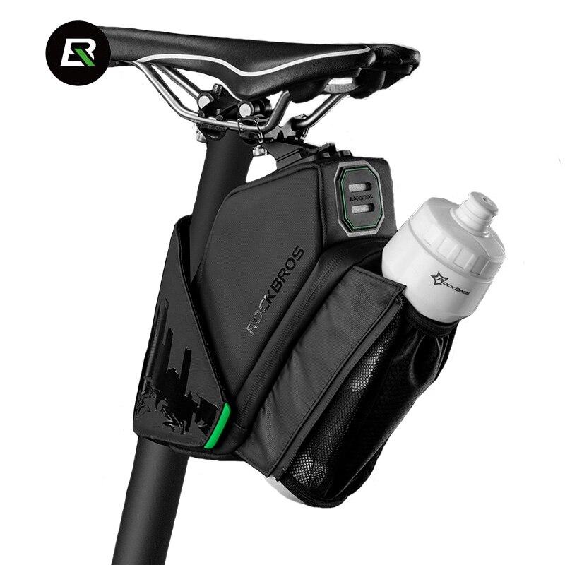 ROCKBROS MTB Bicycle Waterproof Cycling Rear Seat Tail Pack Road Bike Saddle Bag