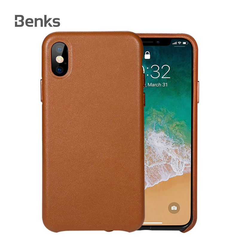 "Benks Phone Case For iPhone X XS 5.8"" Case Leather Luxury Cover Cases For Fundas iPhone X XS Case Protective For iPhone 10 Coque"