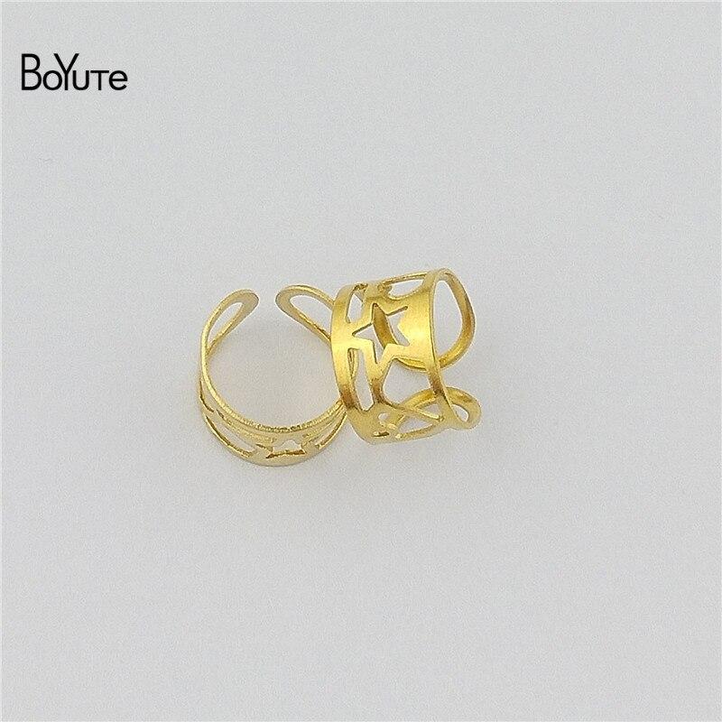 BoYuTe (10 PiecesLot) Simple Plain Metal Brass Stainless Steel Ear Cuff Earrings Jewelry Adjustable Ear Cuff (4)
