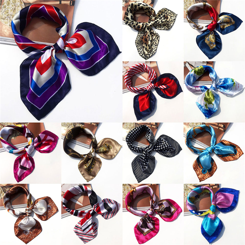 18 Colors High Soft Silk Square   Scarf     Scarves   Bandanas Head   Wrap   Shawl Satin Stewardess