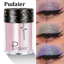 Pudaier Glitter Lip Tattoo Loose Powder Shimmer Lip Tint Holographic Laser Face Eyes Shade Pigment Body Glitter Festival Makeup
