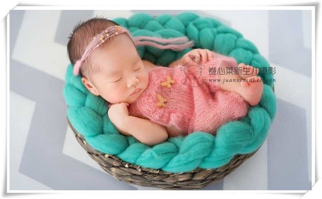 Newborn baby girl hand knitted Ruffled Romper Overall and pearl tieback  Luxury yarn Photography Prop  541bfd759257