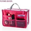 Flying birds! 2016 Multifuncional Saco Organizador de Maquiagem Sacos Cosméticos kits de higiene pessoal Sacos de Viagem DA MODA Das Mulheres Senhoras Bolsas LM2136