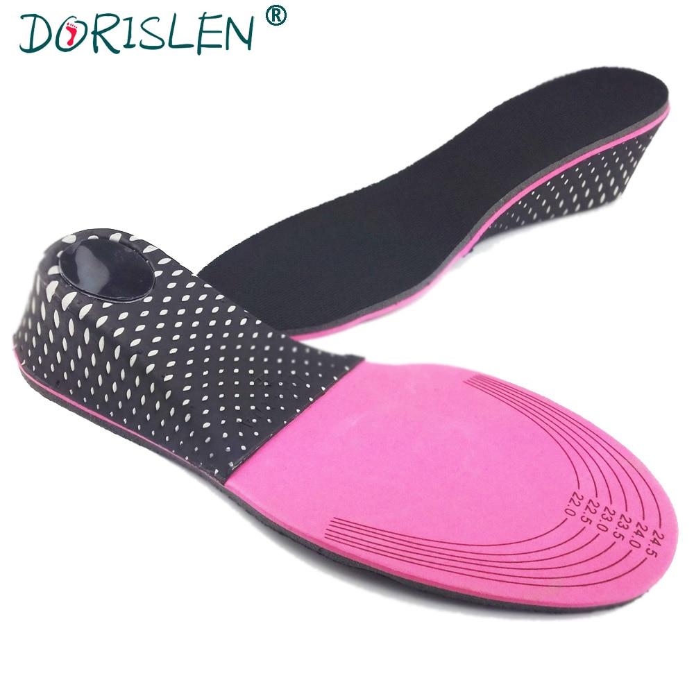 DORISLEN Memory Foam Height Increase Insoles For Women 3cm/5cm Type 100pairs/Lot цена