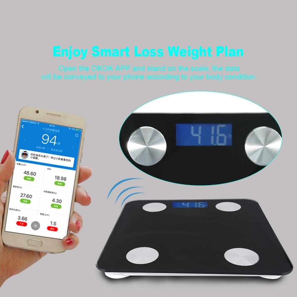 smart bluetooth weight led scale digital body fat bmi body