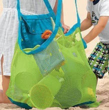 Anti Sand Beach Bag Toy Storage Large Mesh Durable Sand Away Drawstring Backpack(China)