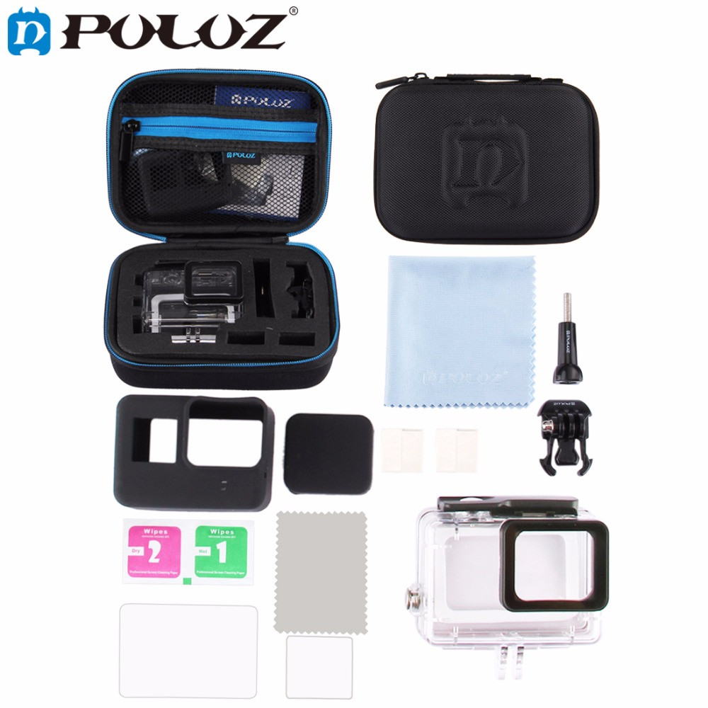 PULUZ 12 in 1 Surfing Accessories Combo Kit EVA Case with Diving Housing Case kit/Set for GoPro Hero 5 Black edition/GoPro HERO5