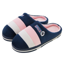 Women's Slippers 2018 New Winter Home Cotton Shoes Slippers Women Fashion Indoor Warm Couple Floor Stripe Fleece Slippers Female halluci pink cute superstar home slippers women shoes polar fleece winter keep warm pulsh indoor slippers simple couple shoes