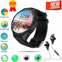 En la acción! Kingwear KW88 android 5.1 reloj Inteligente de 1.39 pulgadas 400*400 SmartWatch teléfono 3G wifi 2.0MP Cámara de Frecuencia Cardíaca pk d6 x5 d5