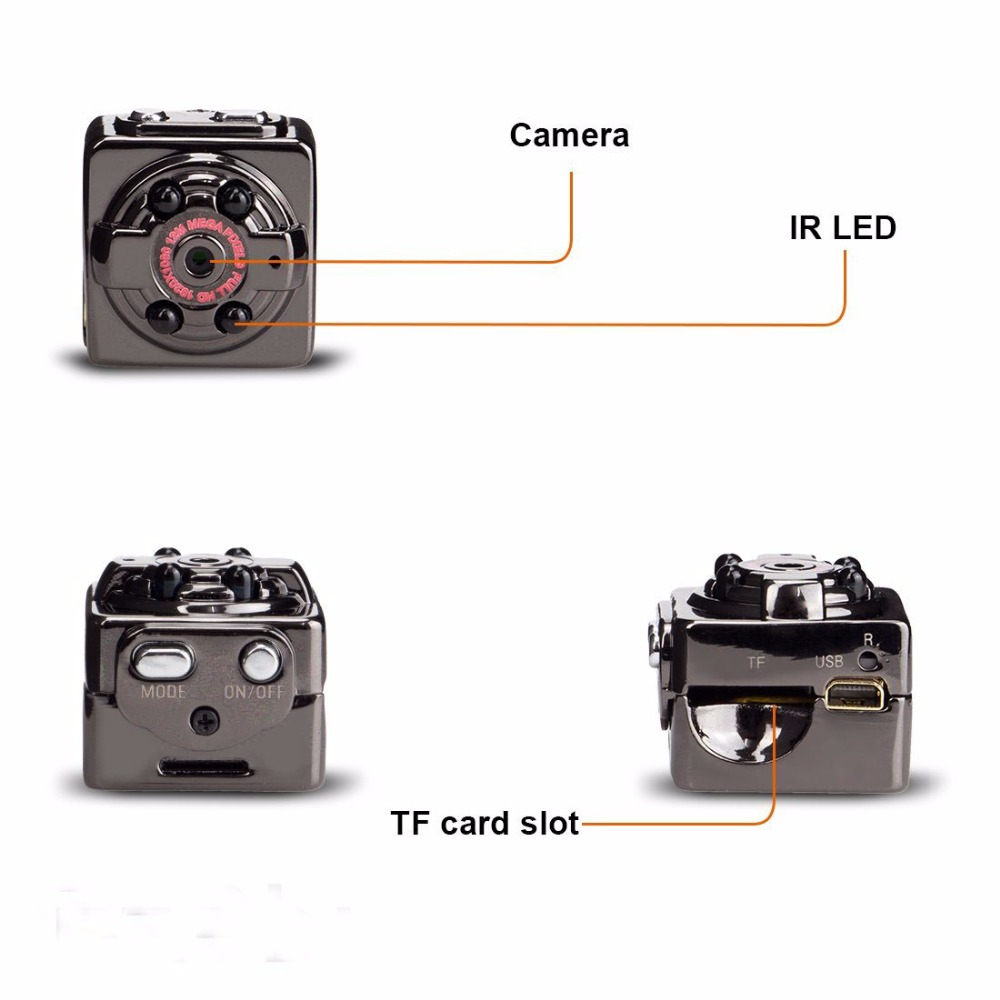 SQ8 FULL HD 1080P Mini Camera Night Vision DV Sport Action Digital Micro Cam Motion Detection