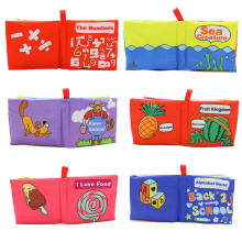 NASHAN 6 Pages Educational Baby Toys Soft Cloth Book Animal Pattern Early Development Sounds Crinkle Books Bed Baby Kids Toy!!!