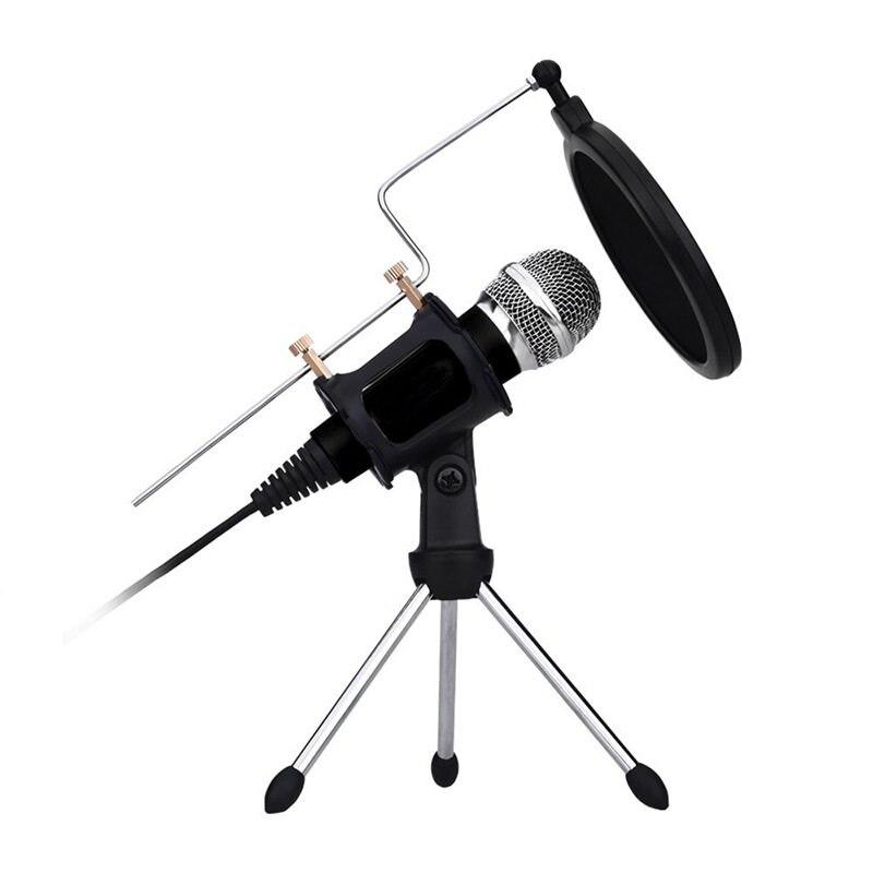Ordinateur Microphone 3.5mm Filaire Condenseur À Son Microphone Avec Shock Mount Pour Enregistrement Radio Braodcasting Chant Enregistrement