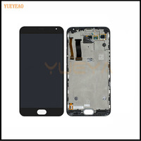 YUEYAO LCD For Meizu MX5 LCD Display+Touch Screen With frame LCD Assembly Repair Parts 5.5 Inch Replacement Mobile Accessories