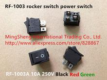 Interruptor de energia original, interruptor 100% rocker, 10a RF-1003 v, preto, vermelho e verde