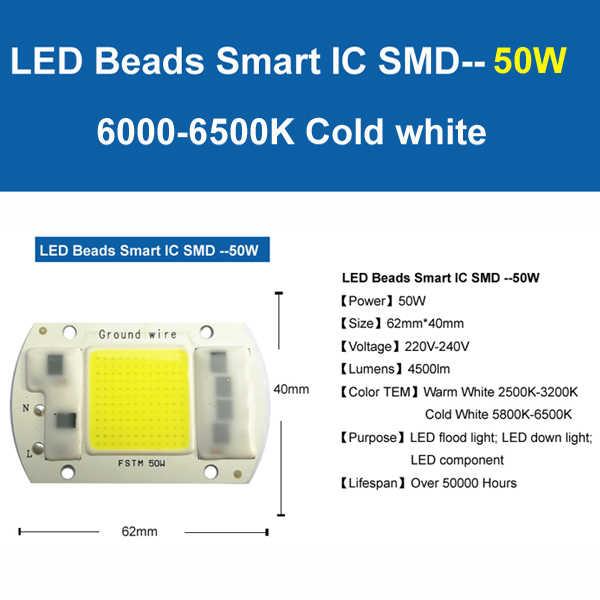 COB LED Lampe Chip 5W 20W 30W 50W LED COB Birne Lampe 220V 230V IP65 Smart IC Fahrer Kalt Warm Weiß LED Scheinwerfer Flutlicht Chip