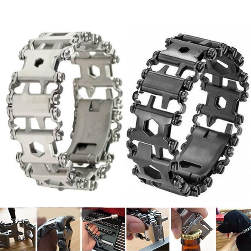 2019 créatif en acier inoxydable multifonction Bracelet bracelet tournevis décapsuleur en plein air Bracelet