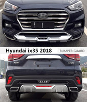 For Hyundai ix35 2018 2019 2020 BUMPER GUARD Car BUMPER Plate High Quality ABS Front+Rear Auto Accessories