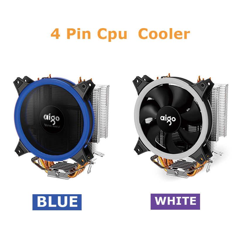 Aigo E3 Kühlkörper 120mm LED CPU fan 4 Rohre Ruhig 4 Pin Kühler Kühlung PWM Spiel Cooling Cpu Kühler für Inetel Und AMD