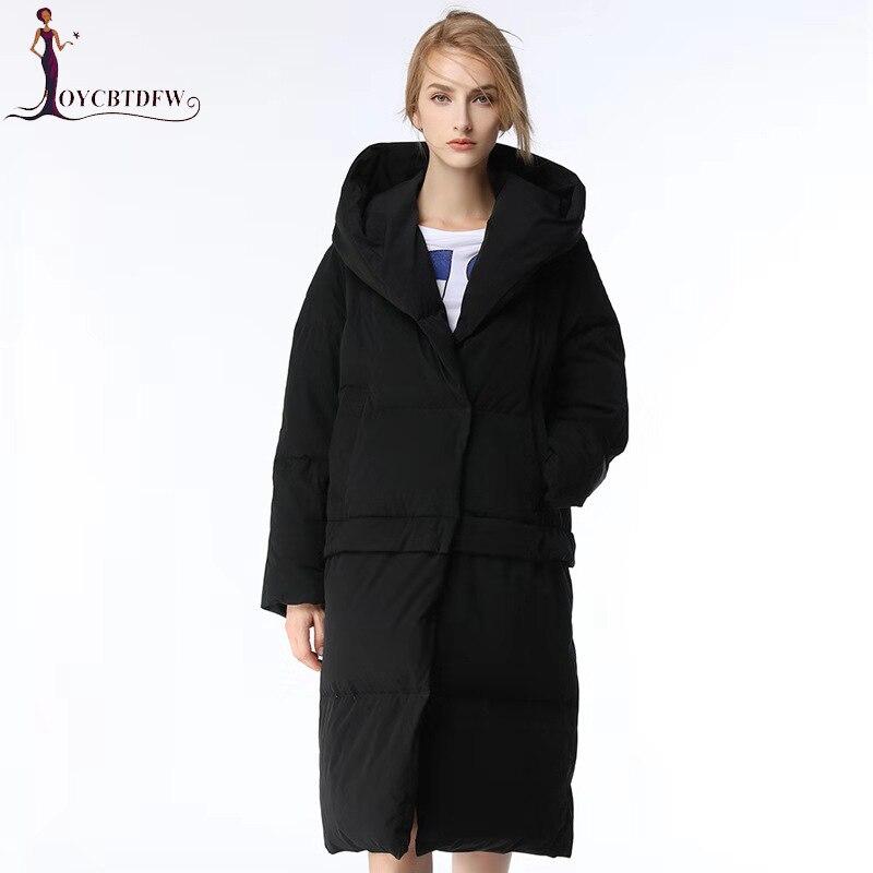 Зимние куртки 90% белое пуховое пальто Женская куртка с капюшоном свободный простой стиль теплые парки верхняя одежда женское пальто NO493
