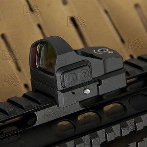 Lambul Tactische Venom Red Dot Sight Pistol Gericht Colt 1911 Glock Jacht Scope Sight Mount Holografische Reflex Sight(China)