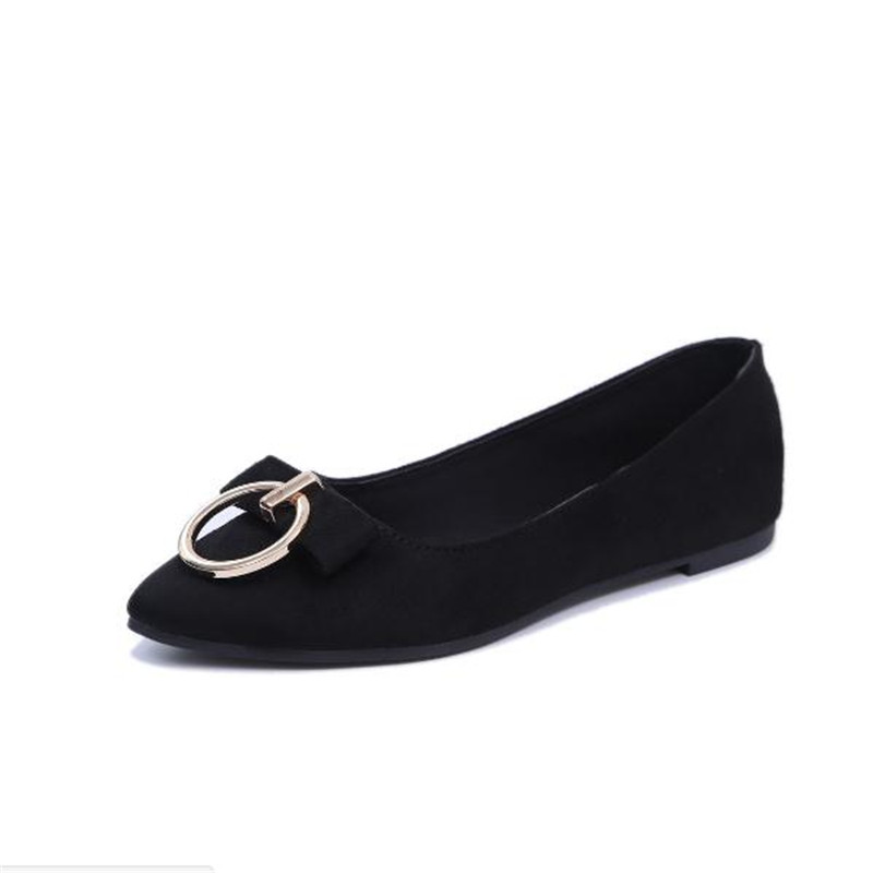 FanFine 2017 Ladies Loafers Flats Square Heel Shoes Pointed Toe Oxford For Women Spring Brand Bow Platform Designer Shoes new 2017 spring summer women shoes pointed toe high quality brand fashion womens flats ladies plus size 41 sweet flock t179
