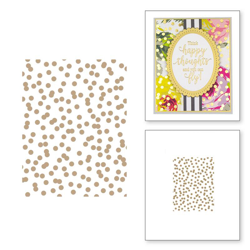 Hot Foil Plates Polka Dots Rectangle Cutting Dies Stencil DIY Scrapbooking Photo Album Gift Card Making Handcraft 2019