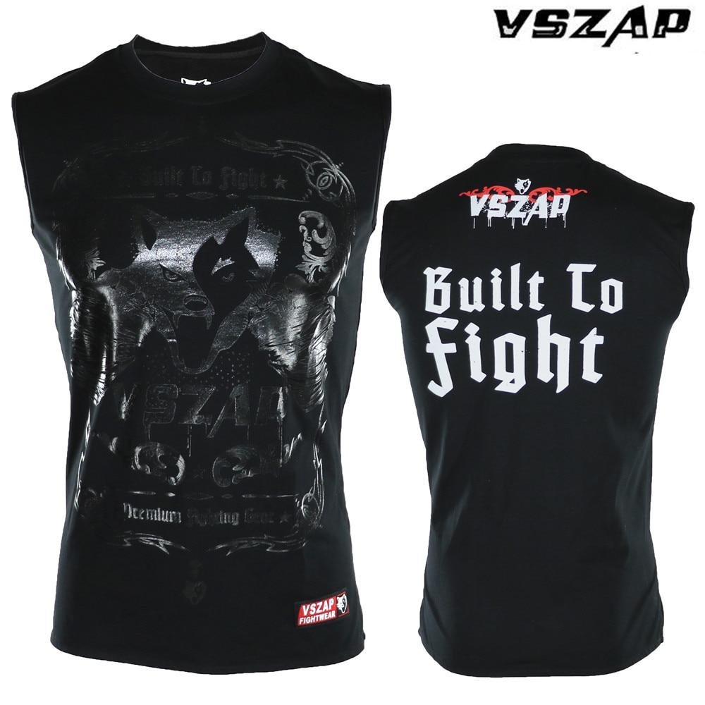 VSZAP T-shirt Men Sports Aerobics Running Boxing Clothing Boxing Gym T Shirt Cheap Mma Muay Thai MMA Suits Tee Shirt