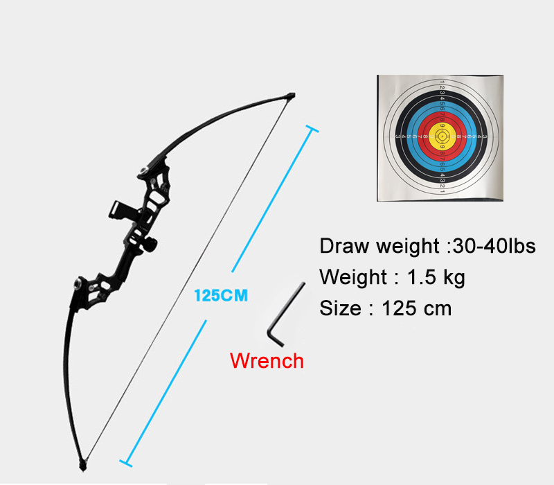 Professional Recurve Bow Archery Hunting 30 45 Lbs Draw Weight