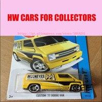 Free Shipping Hot Wheels Custom 77 Dodge Van Car Models Metal Diecast Cars Collection Kids Toys