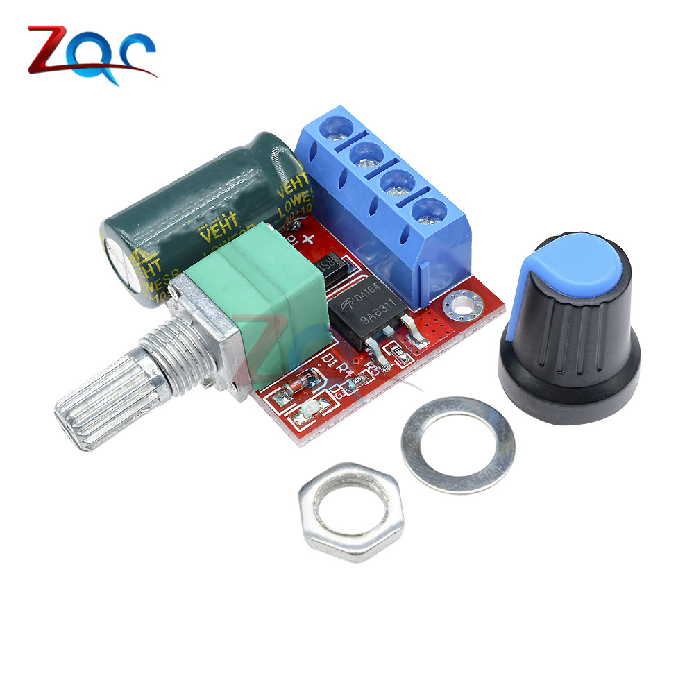 цена на Mini DC-DC 4.5V-35V 5A 90W PWM DC Motor Speed Controller Module Speed Regulator Control Adjust Adjustable Board Switch 12V 24V