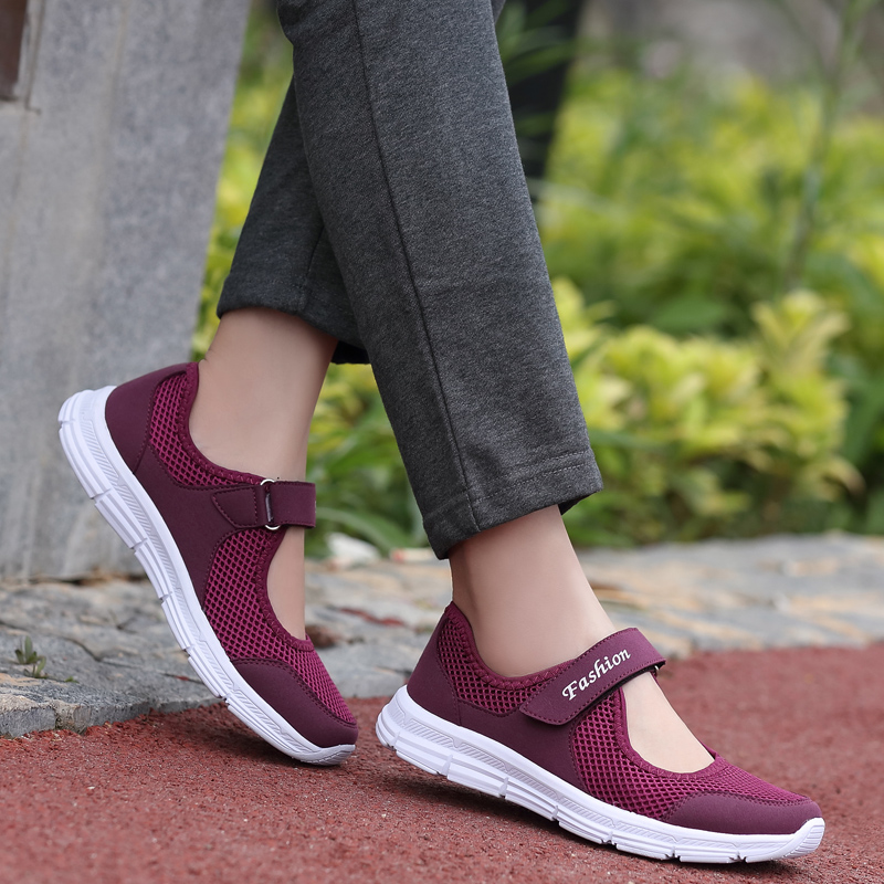 Sneakers Running Shoes Women Casual Breathable Fashion Comfort Sport Mesh Flat