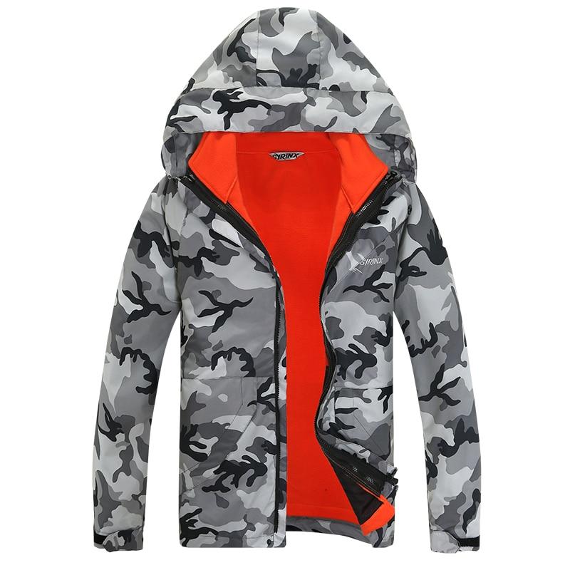 ФОТО Outdoor Men Winter Soft Shell Travel Camping Camouflage Windproof Waterproof Climbing Hunting Hiking Jacket Windbreaker