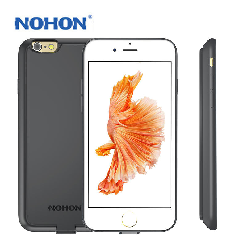 Top Quality High Capacity 2000mAh 2800mAh NOHON Phone Back Splint Cover Battery For iPhone 6 6S Housing Case