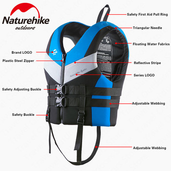 Naturehike Life Jacket Water Sports Accessories Life Vest Safety Buoyancy Vest Portable Drift Latent Swimming Sport Equipment
